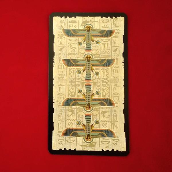 エジプシャン・タロットカード 裏面のデザイン