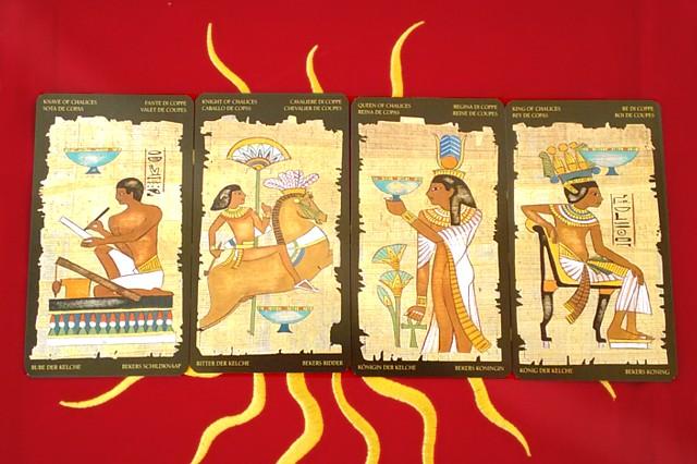エジプシャン・タロットカードの小アルカナ カップの絵札