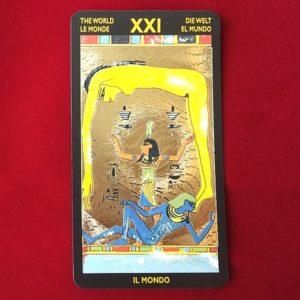 ネフェルタリ・タロットカード 21=世界のカード