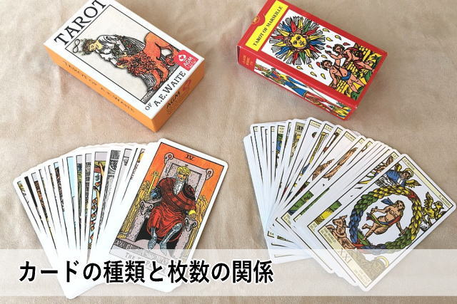 カードの種類と枚数の関係