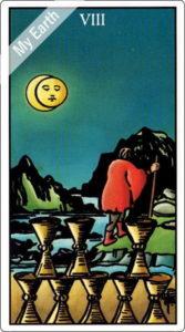 ウェイト版タロットカード 小アルカナ カップの8