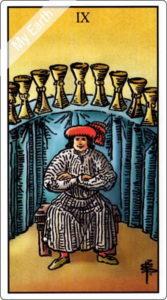 ウェイト版タロットカード 小アルカナ カップの9