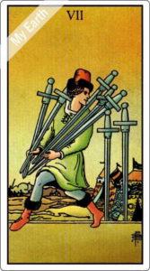 ウェイト版タロットカード RWS 剣の7