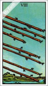 ウェイト版タロットカード RWS 棒の8