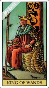 ウェイト版タロットカード 小アルカナ ワンドのキング