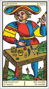 タロットオブマルセイユ 魔術師 正位置