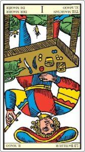 タロットオブマルセイユ 魔術師 逆位置