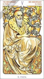 タロット・アール・ヌーボー 教皇