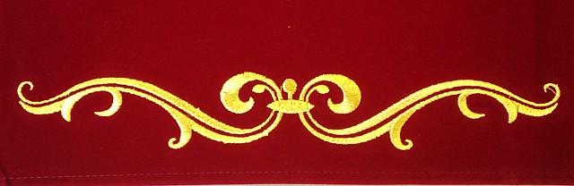 タロットクロス「ルノルマン」の刺繍