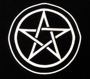 タロットカードクロス ペンタクルの五芒星の刺繍