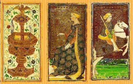 15世紀に描かれた(悪魔のカードを除く)ヴィスコンティ・スフォルツァ版デッキ