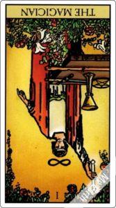 ウェイト版タロットカード 大アルカナ 魔術師 逆位置