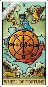 ウェイト版タロットカード 大アルカナ 運命の輪