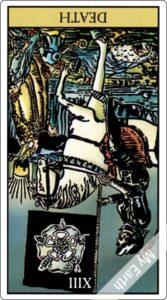 ウェイト版タロットカード 大アルカナ 死神 逆位置