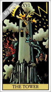 ウェイト版タロットカード 大アルカナ 塔