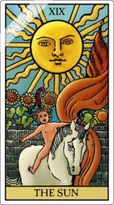 ウェイト版タロットカード 大アルカナ 太陽