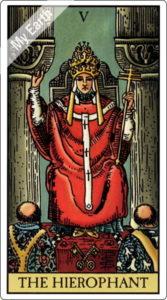 ウェイト版タロットカード 大アルカナ 教皇