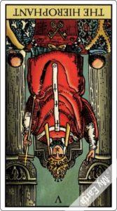 タロットカード 法王 逆位置