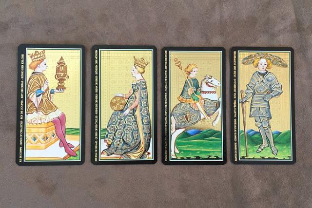 ビスコンティ・タロットカードの、小アルカナの絵札